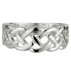 Solvar Sterling Silver Celtic Woven Ring