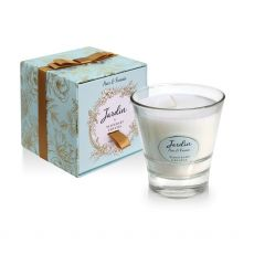 Tipperary Crystal Jardin Candle Pear & Freesia candle and box