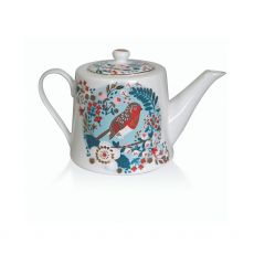 Tipperary Crystal Birdy Robin & Blue Tit Tea Pot