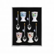 Tipperary Crystal Birdy Set of four Egg Cups & Spoons
