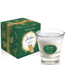 Tipperary Crystal Jardin Collection Christmas Candle - Green