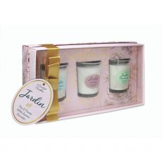 Tipperary Crystal Jardin Set Of 3 Assorted Mini Candles whole set
