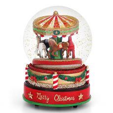 Tipperary Crystal Kilkenny Exclusive Christmas Carousel Snow Globe 1