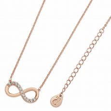 Tipperary Crystal Part Stone Set Infinity Pendant Rose Gold