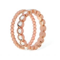 Tipperary Crystal Rose Gold Eternity Ring Size 8