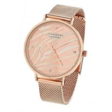 Tipperary Crystal Rose Gold Zebra Dial Watch