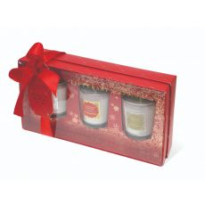 Tipperary Crystal Set of 3 Christmas Candles