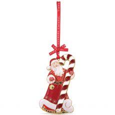 Tipperary Crystal Sparkle Santa & Candy Cane Decoration
