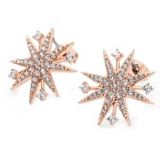 Tipperary Crystal Rose Gold Star Earrings