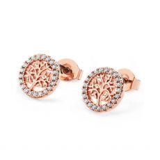 Tipperary Crystal Tree Of Life Crystal Stud Earrings