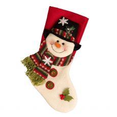 Top Hat Snowman Stocking
