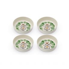 Topical  BBQ Set of 4 Bamboo Bowls