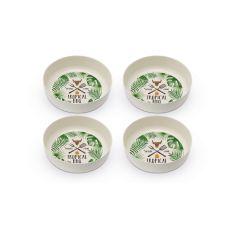 Topical  BBQ Set of 4 Bamboo Bowls