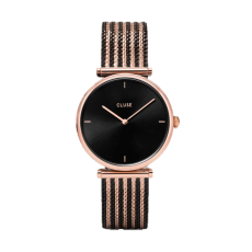 Cluse Triomphe Mesh Black Biocolour Watch