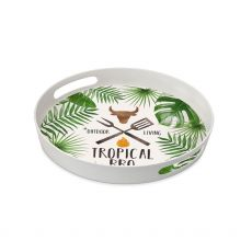 Tropical BBQ Bamboo Tray