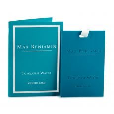Max Benjamin Turquoise Water Scented Card