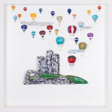 Rebeka Kahn 'Beautiful Ireland Castle' 53cm x 53cm|