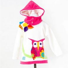Wacky Clothing Cream Owl Hoodie
