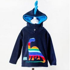 Wacky Clothing Navy Hooded Dinosaur Top