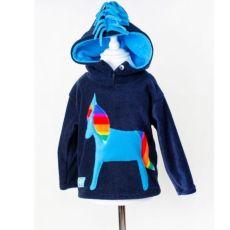 Wacky Clothing Navy Horse Hoodie