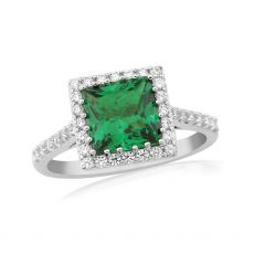 Waterford Jewellery Square Emerald Ring