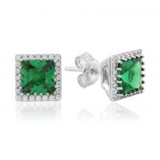 Waterford Jewellery Emerald Center Stud Earrings
