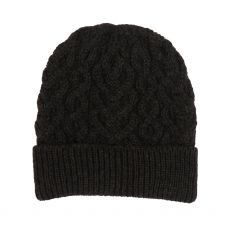 West End Knitwear Charcoal Hearts Hat