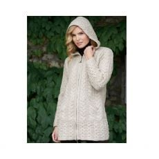 West End Knitwear Galway Cream Knitted Cardigan