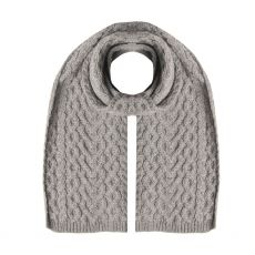 West End Knitwear Hearts Grey Scarf