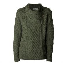 West End Knitwear Shannon Army Green Cardigan