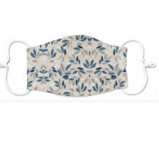 White Pastel Floral Adult Face Covering