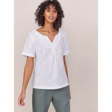 White Stuff Banana Leaf Linen Top front