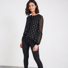 White Stuff Black Darcy Shirt