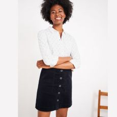 White Stuff Canterbury Navy Cord Skirt