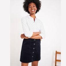 White Stuff Canterbury Navy Cord Skirt