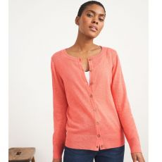 White Stuff Lola Crew Neck Coral Cardigan