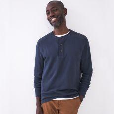 White Stuff Men's Porter Waffle Henley T-Shirt