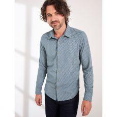 White Stuff Montford Jersey Shirt Blue front