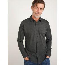 White Stuff Montford Jersey Shirt Grey front of model