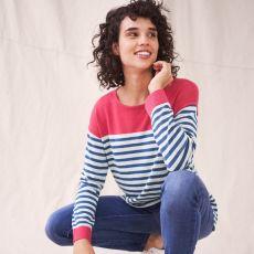 White Stuff Olivia Stripe Blue Jumper