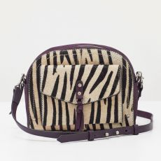White Stuff Ottelie Zebra Print Dome Crossbody