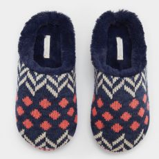 White Stuff Patchwork Mule Slipper front