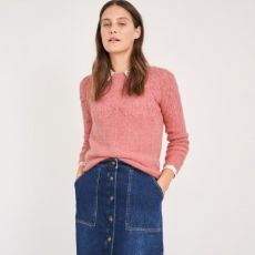 White Stuff Pointelle Pink Stitch Jumper