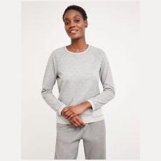 White Stuff Reversible Grey Jersey Top