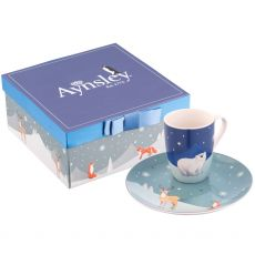 Aynsley Winter Animal Mug & Plate Set