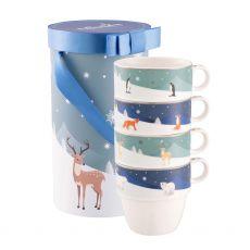 Winter Animals Stacking Mugs (4)