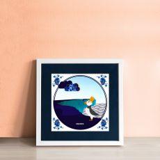 Alanna Plekkenpol Stud Puffin single tile framed