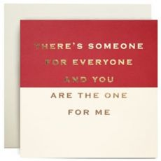 You are the one for me Valentine Card