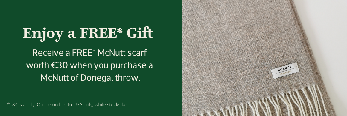 Free gift with purchase of Mcnutt throw