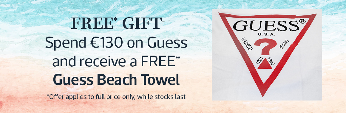 Free Gift With Purchase when you spend over 130 euro on Guess